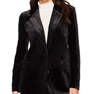 Gap velvet black blazer with purple lining